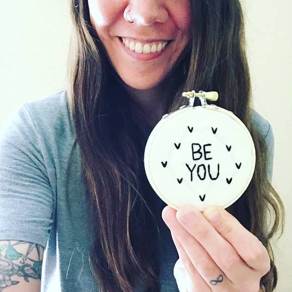 Embroidery Art: Be You