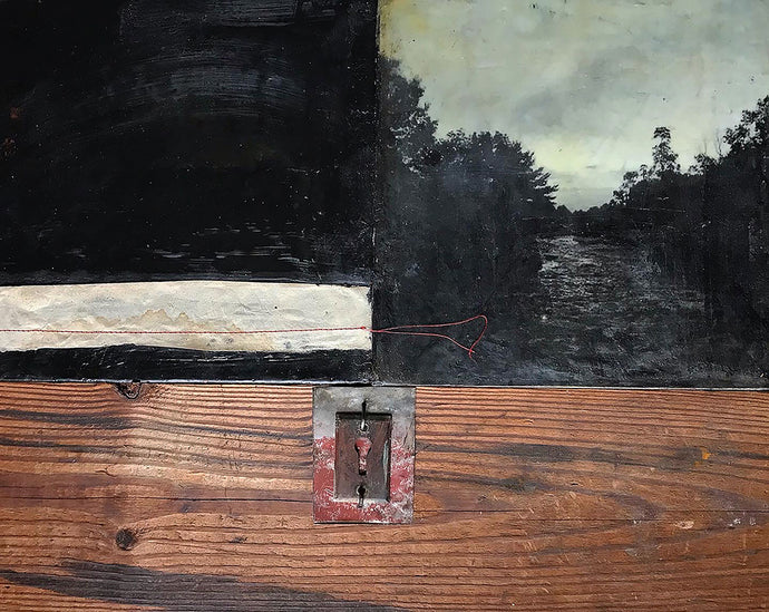 Bridgette Guerzon Mills : Liminal Space, encaustic mixed media