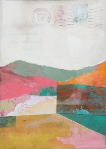 Michelle Trahan Carson: Mail Landscape Series No.1, original collage art