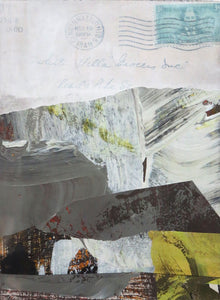 Michelle Trahan Carson: Mail Landscape Series No.4, original collage art