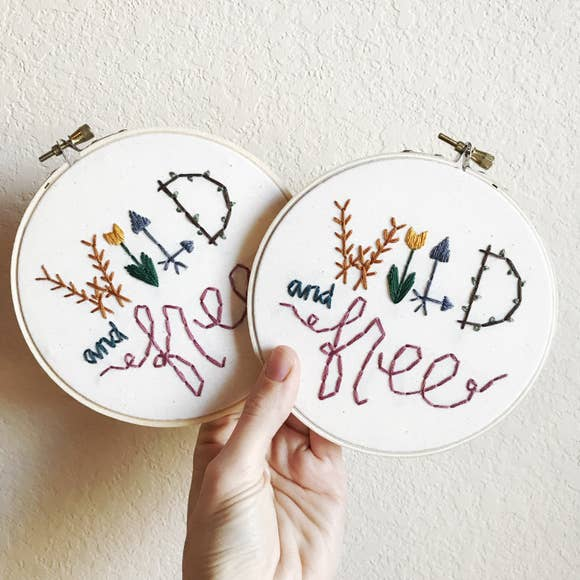 Embroidery Art: Wild And Free