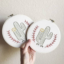 Load image into Gallery viewer, Embroidery Art: Cactus Hoop