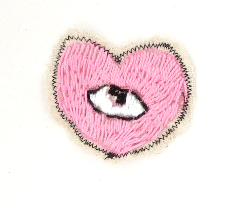 Sewn Patches: Pink Heart Inner Eye