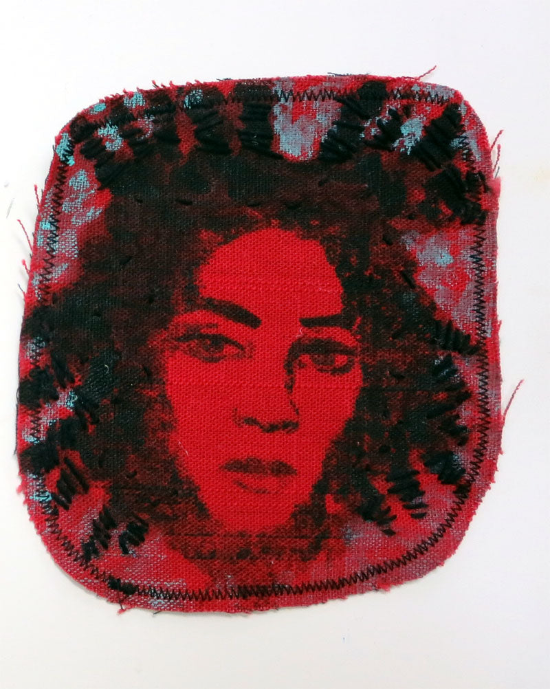Sewn Patches: Red Basquiat