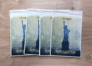 "Set of 4 postcards of original mixed media piece ""Beloved Community"""