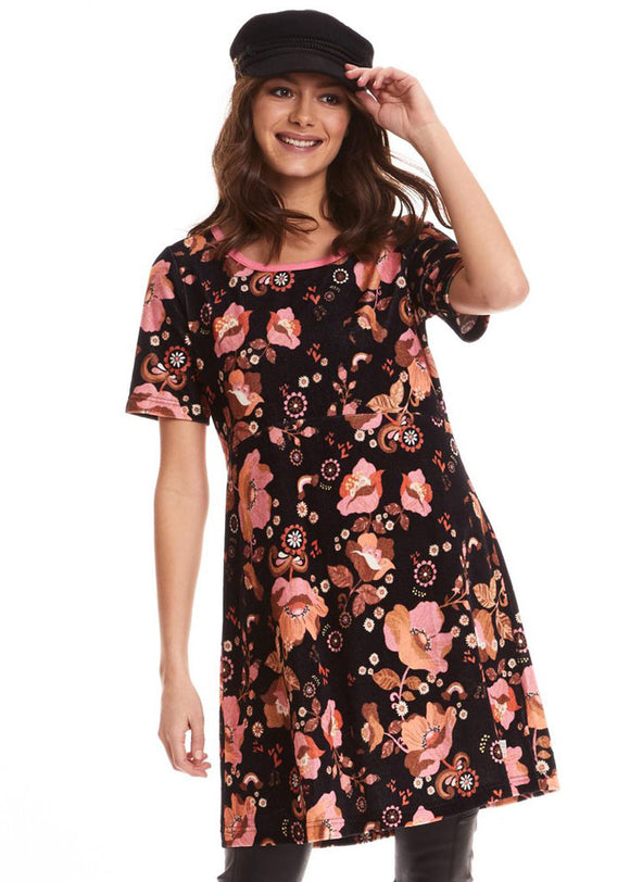 Odd Molly Groove garden dress - velourkjole - size S