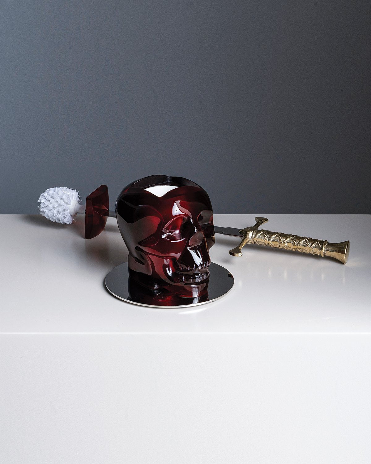Toilet Brush CRANIUM Red
