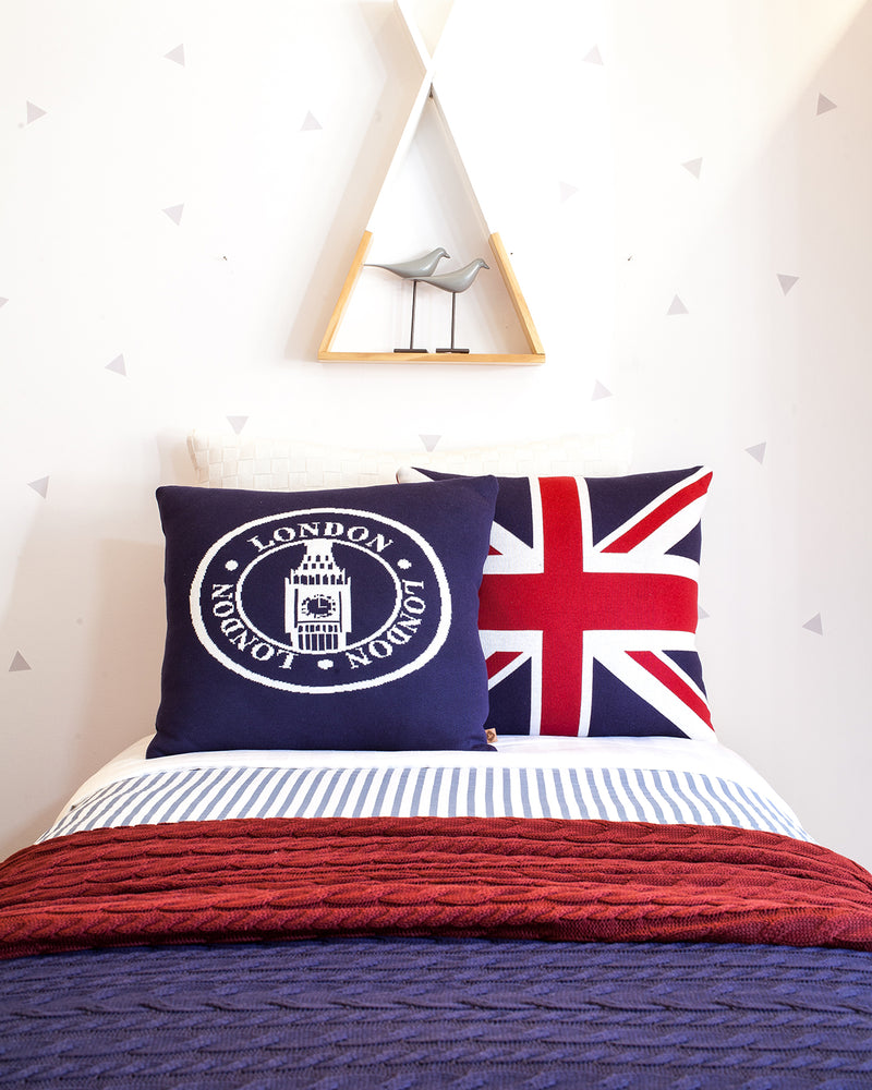 Rian TricotCushion LONDON SEAL