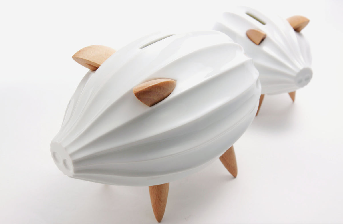 Piggy Bank CERAMIC White