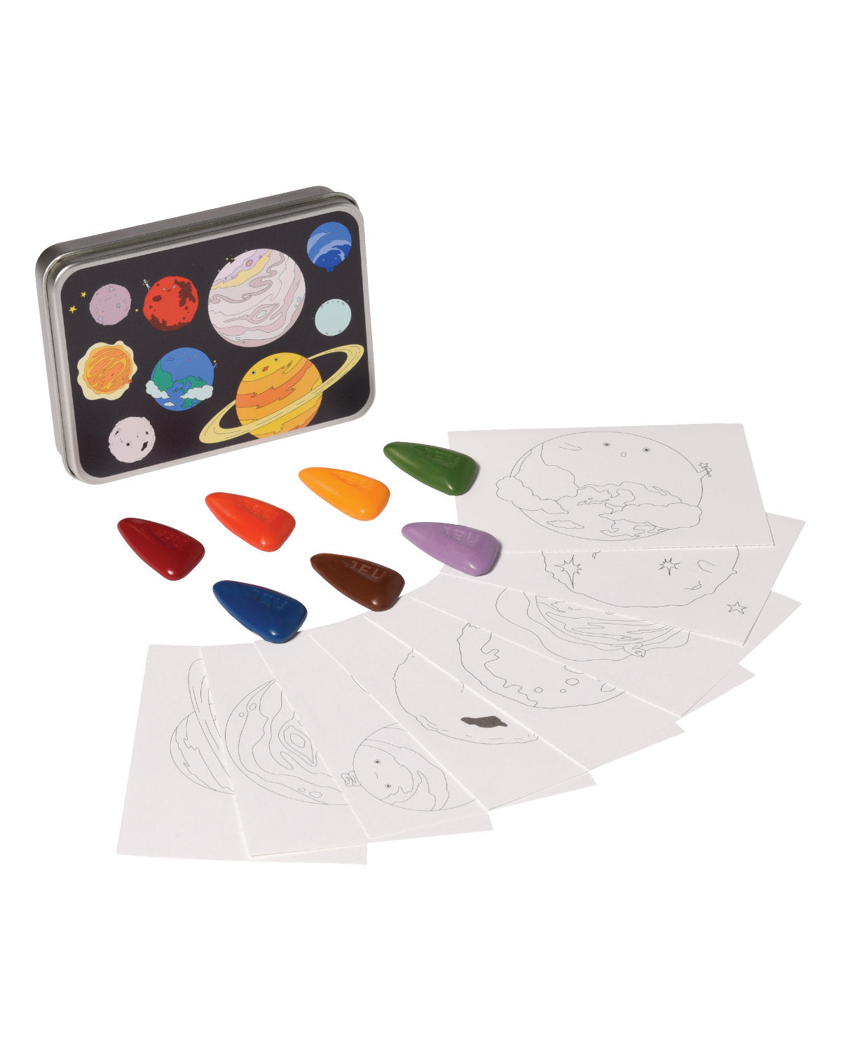 Coloring Kit Set SAFARI + OCEAN + PLANETS + UNICORN Small