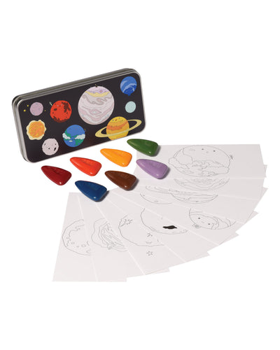Coloring Kit Set SOLAR SYSTEM + BALLERINA + UNICORNS Large