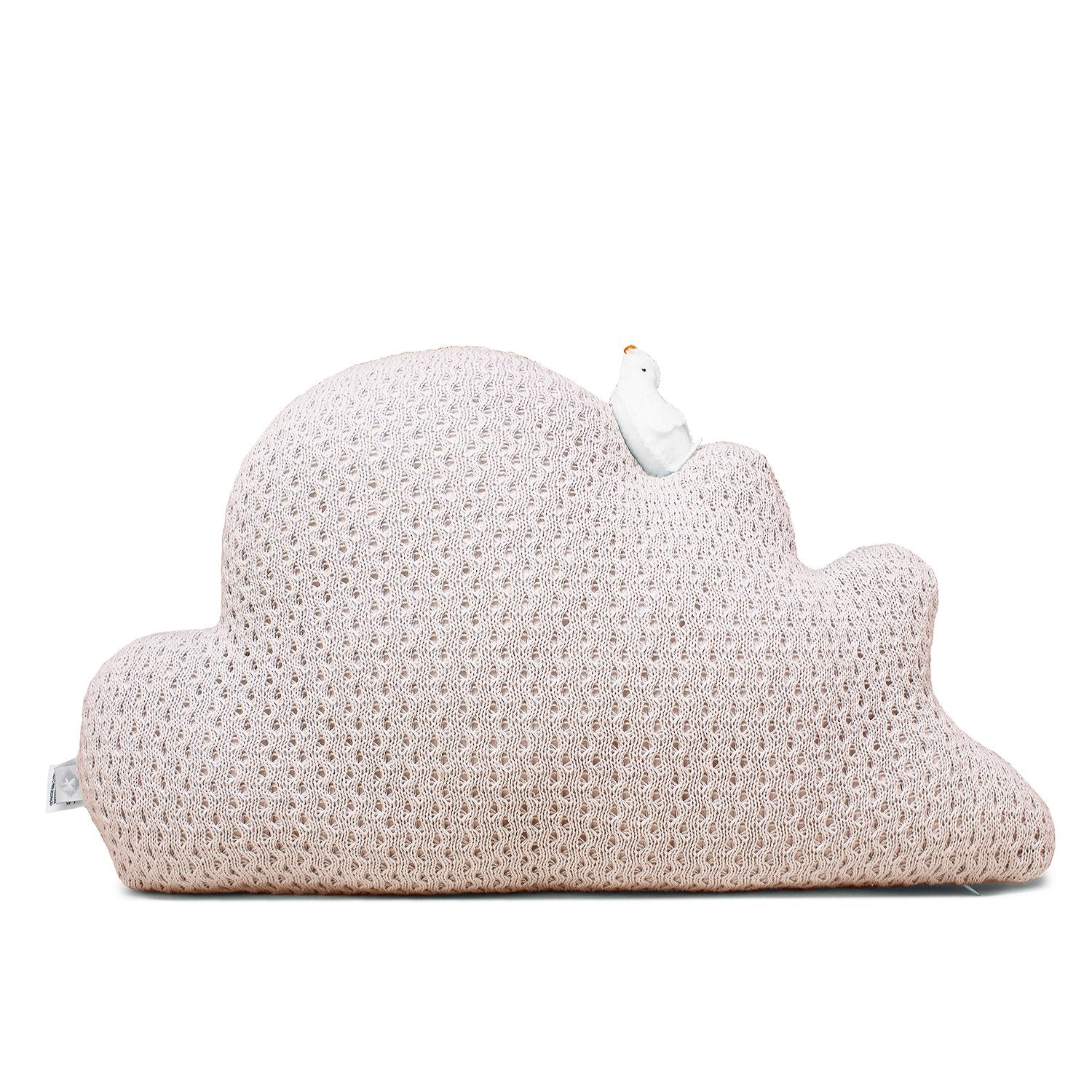 Rian TricotCushion CLOUD W/ LITTLE BIRD