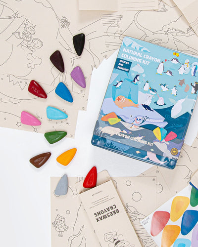 Coloring Kit PARTY SET Whales and Penguins