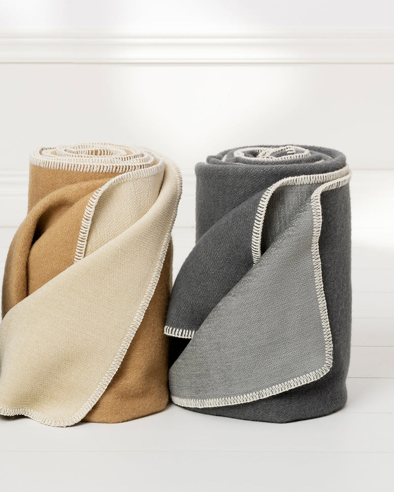 Blanket YLVA Ochre/Cream