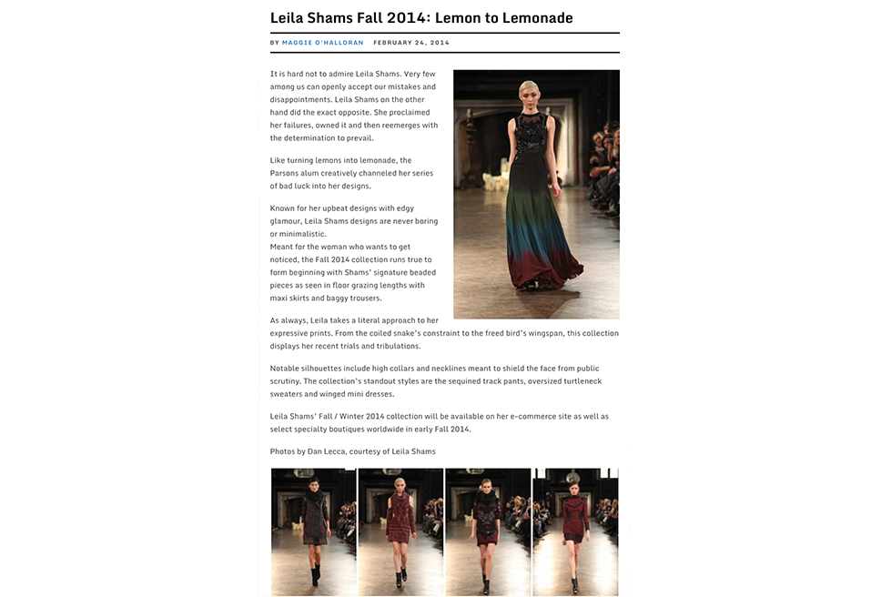 Leila Shams Fall | Lemon to Lemonade