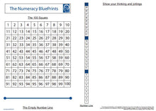 Load image into Gallery viewer, 19113A Numeracy BluePrints teacher board A1 size.