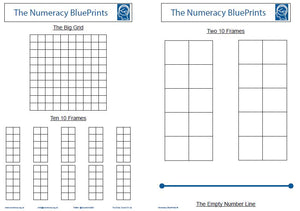 19100B Numeracy Blue Prints. 100 at TOP of 100 Square