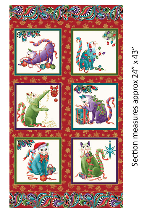 Cat-i-tude Christmas - Bouledogue Quilt Co.