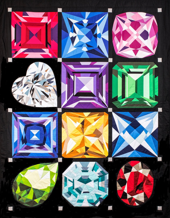 MJ Kinman's Birthstone Series ~ Patterns - Bouledogue Quilt Co.