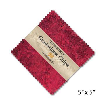 Gradations Chips ~ Hibiscus - Bouledogue Quilt Co.