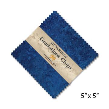 Gradations Chips ~ Indigo - Bouledogue Quilt Co.