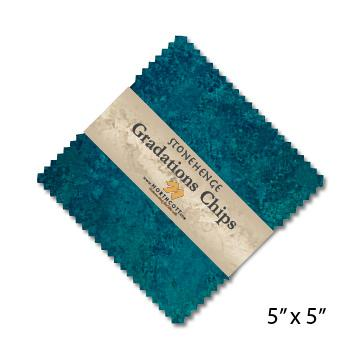 Gradations Chips ~ Lagoon - Bouledogue Quilt Co.