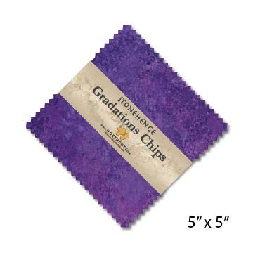 Gradations Chips ~ Amethyst - Bouledogue Quilt Co.