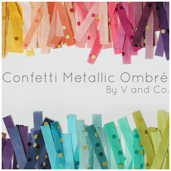 Ombre Confetti - V & Co - Bouledogue Quilt Co.