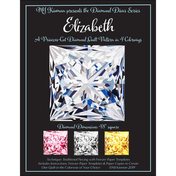 MJ Kinman's Diamond Divas ~ Elizabeth - Bouledogue Quilt Co.
