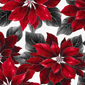 Poised Poinsettia by Hoffman - Bouledogue Quilt Co.
