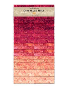 Gradations Strips ~ Hibiscus - Bouledogue Quilt Co.