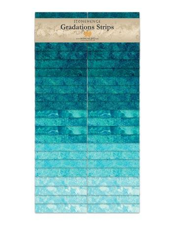 Gradations Strips ~ Lagoon - Bouledogue Quilt Co.
