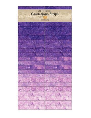 Gradations Strips ~ Amethyst - Bouledogue Quilt Co.