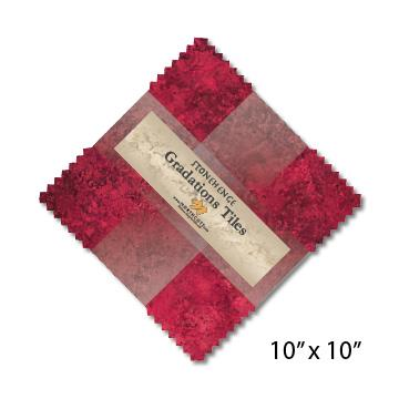 Gradations Tiles ~ Hibiscus - Bouledogue Quilt Co.