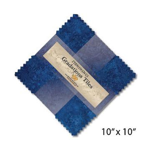 Gradations Tiles ~ Indigo - Bouledogue Quilt Co.
