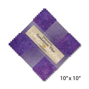 Gradations Tiles ~ Amethyst - Bouledogue Quilt Co.
