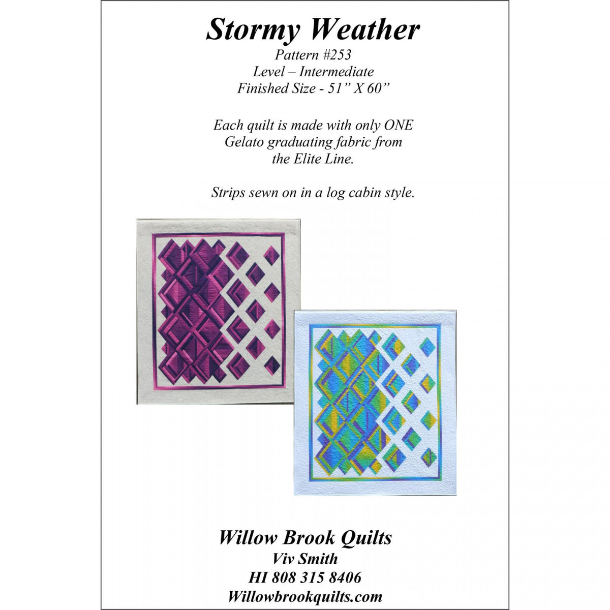 Stormy Weather - Bouledogue Quilt Co.