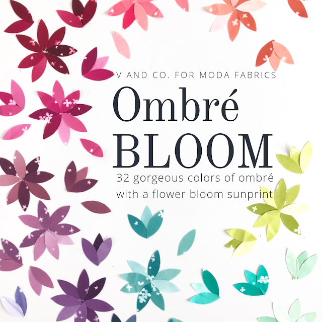 Ombre Bloom - V & Co. - Bouledogue Quilt Co.
