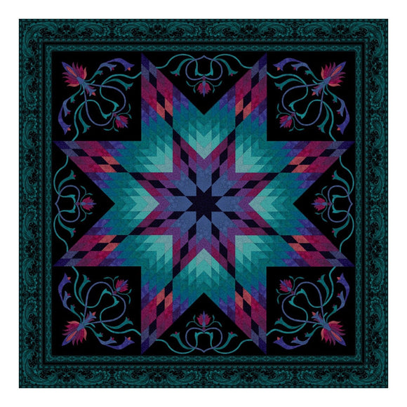 Lotus Peacock Quilt Kit by Jinny Beyer for RJR Fabrics - Bouledogue Quilt Co.