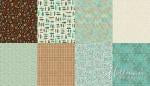 All a Twitter ~ Fat Quarter Panels: Sprout Coordinates - Bouledogue Quilt Co.
