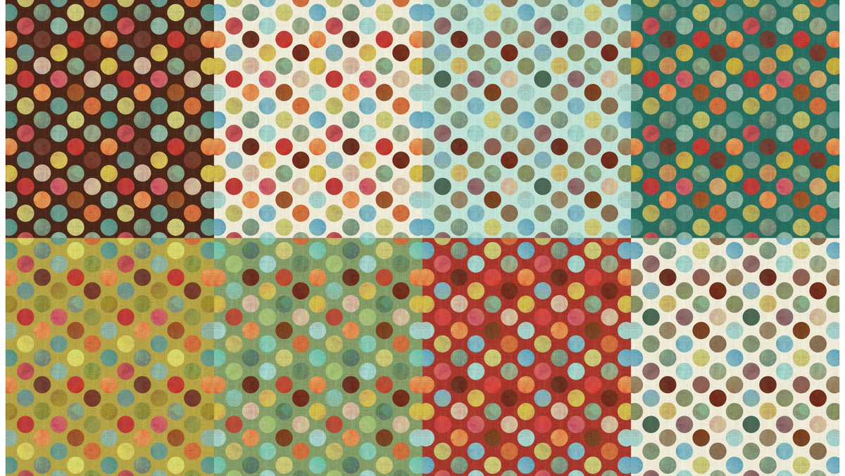 All a Twitter ~ Fat Quarter Panels: Spring Dots - Bouledogue Quilt Co.