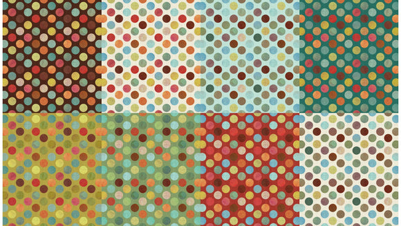 All a Twitter Fat Quarter Panels: Spring Dots - Bouledogue Quilt Co.