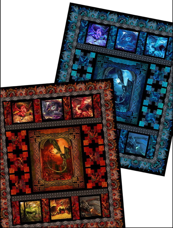 Dragons ~ In the Beginning - Bouledogue Quilt Co.
