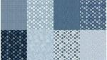 All a Twitter Fat Quarter Panels: Blueberry Coordinates - Bouledogue Quilt Co.