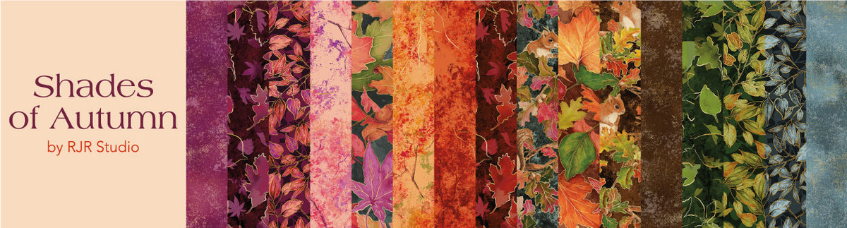 Shades of Autumn by RJR Studio - Bouledogue Quilt Co.