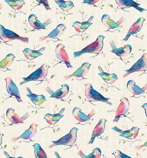 All A Twitter ~ Sweetpea Birds - Bouledogue Quilt Co.