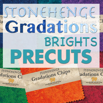 Stonehenge Gradations ~ Brights - Bouledogue Quilt Co.