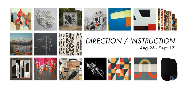 DIRECTION / INSTRUCTION curated by Hyland Mather of Andenken Gallery, Amsterdam  August 26th - September 17th