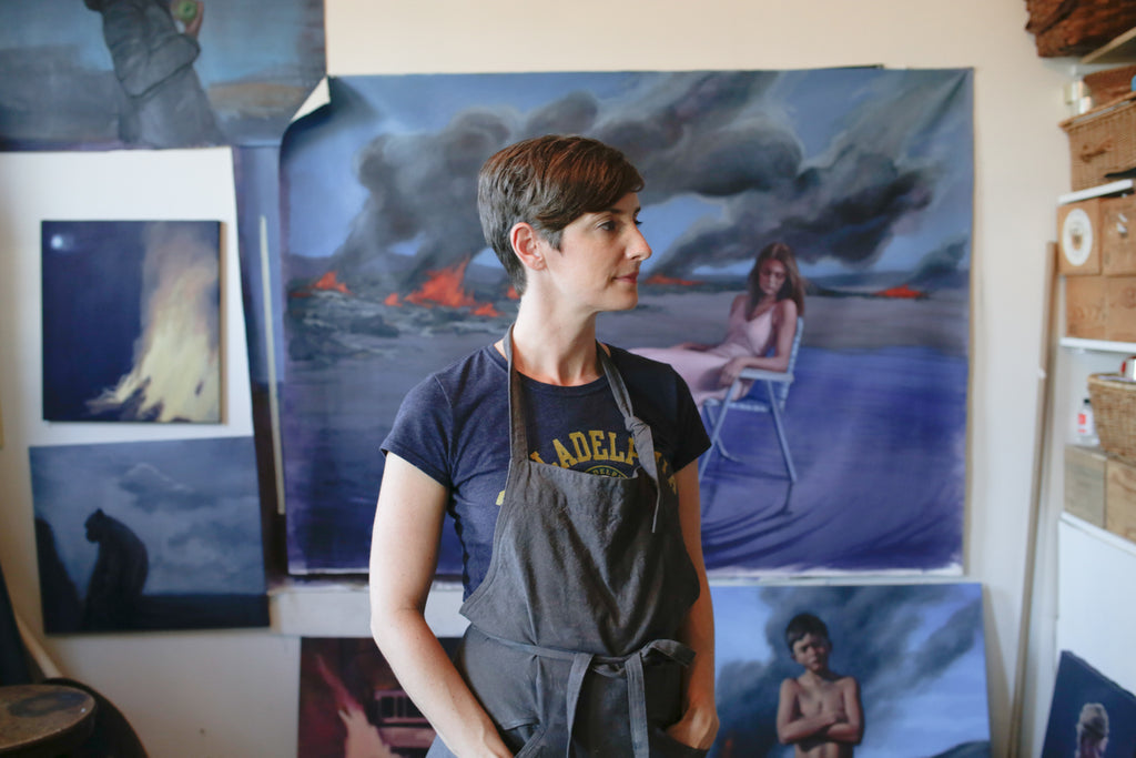 Katherine Fraser's oil paintings, studio visit, Paradigm Gallery + Studio