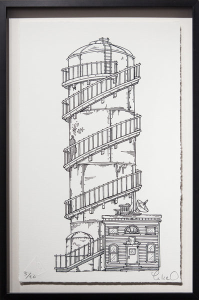 Spiral Tower - Framed